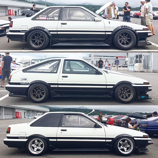 Same same, but different. A tiny sample of the ridiculous amount of AE86s at the 86 Style meet today.