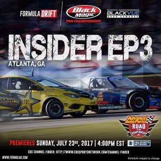 Tune in this afternoon #formuladrift Insider Episode 3 on @cbssports Network at 4:00 PM EST