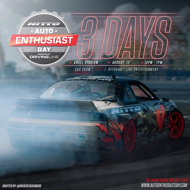 3 more days until @nittotire Auto Enthusiast Day.  This Saturday at Angel Stadium  For more info visit www.AutoEnthusiastDay.com  | | |