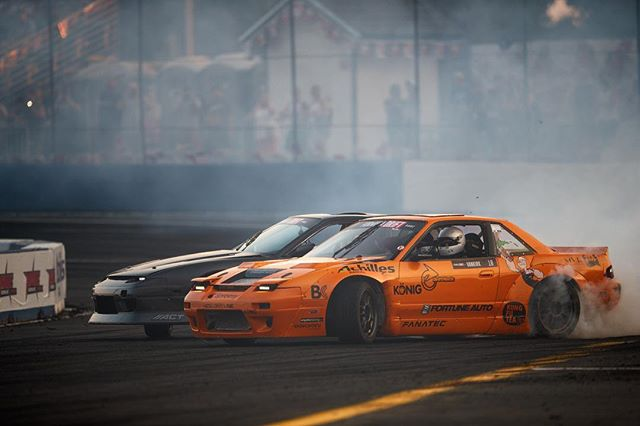 Congratulations to Formula DRIFT PRO 2 event winner @mattvankirk18 2nd place @dylanhughes129 and 3rd place @dirk_stratton | Photo by @larry_chen_foto