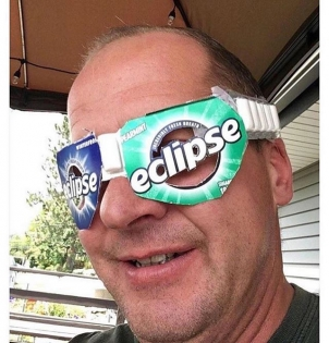 Had a great view of the solar eclipse today! Seems like it's been going for hours! #cantseeshit #solareclipse2017