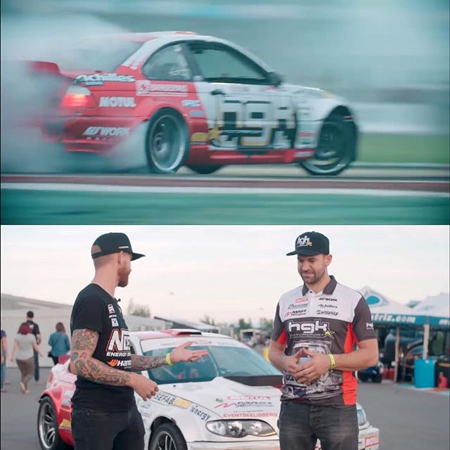 Hanging out with my good buddy Kristaps from the @hgkracingteam and his @hgkracing E46! Click the link in my bio to see the latest @blackmagicshine Car Check to see what makes this thing the fastest car in @formulad !