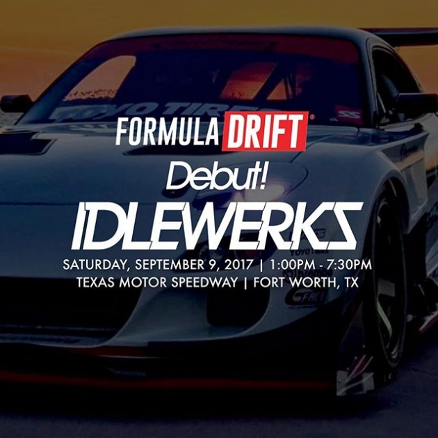 IDLEWERKS car show Brought to you by @spocom at Round 7 - @txmotorspeedway To register or for more information visit www.formulad.com #formuladrift #formulad #fdtx
