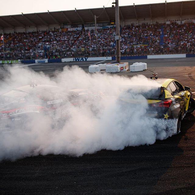 Put up the smoke screen! @fredricaasbo @nexentireusa @justinpawlak13 @falkentire @fordperformance