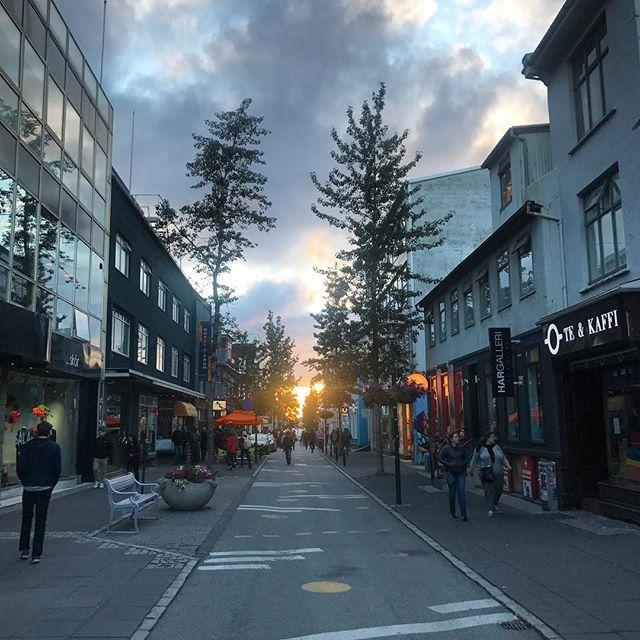 Reykjavik sunsets... at 11pm.