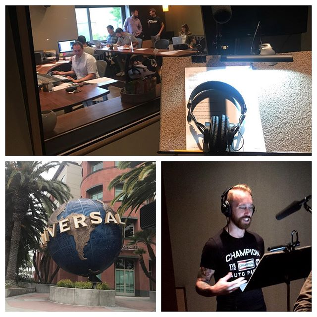 Starting off the day in LA with voiceovers for upcoming radio ads with @championparts! Always great to work with our partners outside of the track!