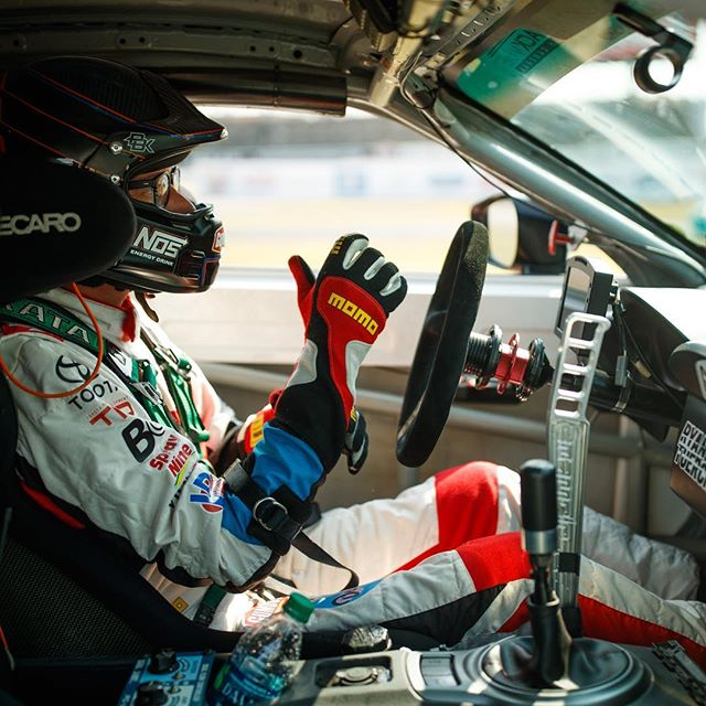 Game day baby. Suited booted and ready to do some burnouts. starts now. Tune into the livestream to check it all out. @gumout @namelessperformance @hankookusa @bcracingna @nosenergydrink @toyotaracing