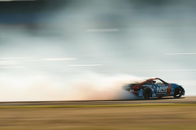 Hitting warp speed in the twin turbo @nosenergydrink @nissan 370Z! Dialed in and ready for qualifying tomorrow!  📸: @larry_chen_foto
