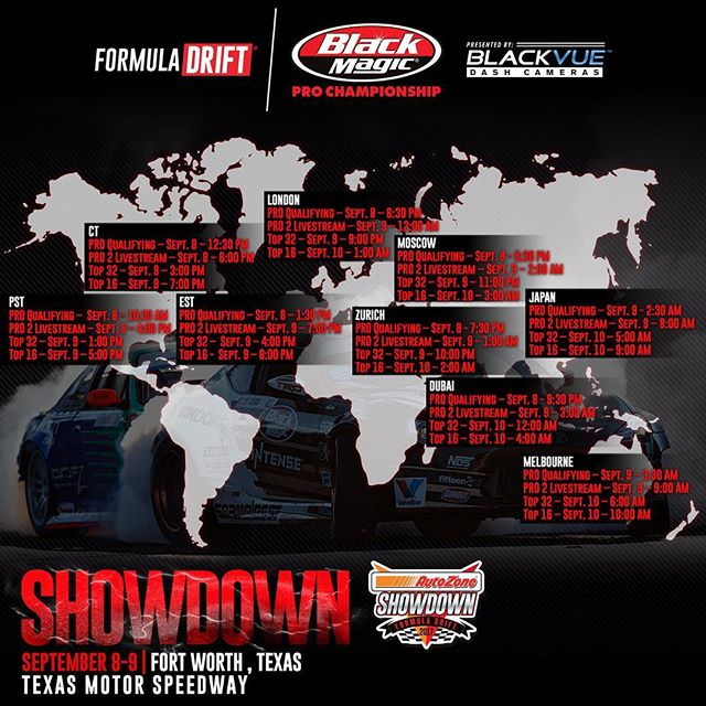 Livestream times for this weekend's @formulad event!