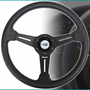 New GReddy - GPP Steering wheel with the special double cross stitching in #GReddy Yellow, Teal and Navy-blue, arrives later this month. Authorized GReddy Dealers and #ShopGReddy.com are now accepting pre-orders. P/N 16500201 MSRP $260. Color : Black Shape : Round Material : Black Leather Stitching : Overlapping Cross Lock Stitching Color : Contrasting Yellow, Teal, & Navy Diameter : 340mm Dish (depth front to back) : 47mm (Med.) Spoke : 3 spoke, Black Anodized Grip : Ergo. 27-30mm (with shallow finger groves on the back side) Etching : GReddy logo center spoke Horn Button : White with Classic GReddy 3-Stripe logo #greddysteeringwheels
