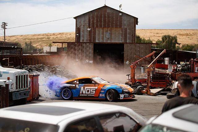 drops tomorrow! Watch as I take my @nosenergydrink Nissan 370Z through an active junkyard and try not to smash it to pieces!