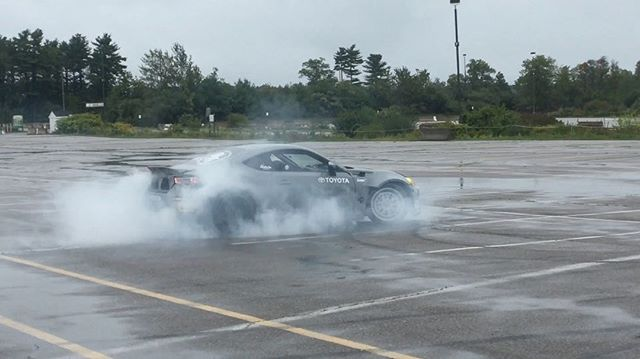 Rain or shine having some fun splashing around this lot at the @toyotausa 2018 Camry launch here in New England 🤘🏼🏎  @unicorngarage