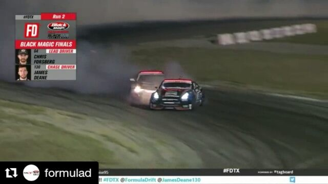 Repost @formulad ・・・ @jamesdeane130 has just claimed his 4th win of the season after beating @chrisforsberg64 at ! Check out his winning run! 🏼