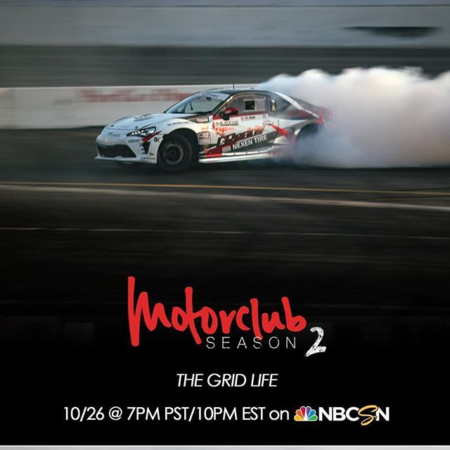 See and the @teamgreddyracing @nexentireusa @toyotaracing 86  @motorclubshow ・・・ @kengushi goes head to head with @daiyoshihara and @soupj5 and @marc7j5 in @lamborghini on THURSDAY 10/26 7pm PT/10pm ET @nbcsports