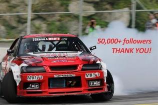 50,000+ followers! Thank you #DRIFT fans #FDJapan #FormulaDrift #FormulaDriftJapan