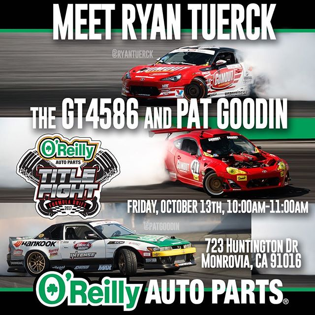 @patgoodin and I will be at the @oreillyautoparts in Monrovia CA tomorrow from 10-11am. Check the flyer and come hang out. @gumout @blackmagicshine
