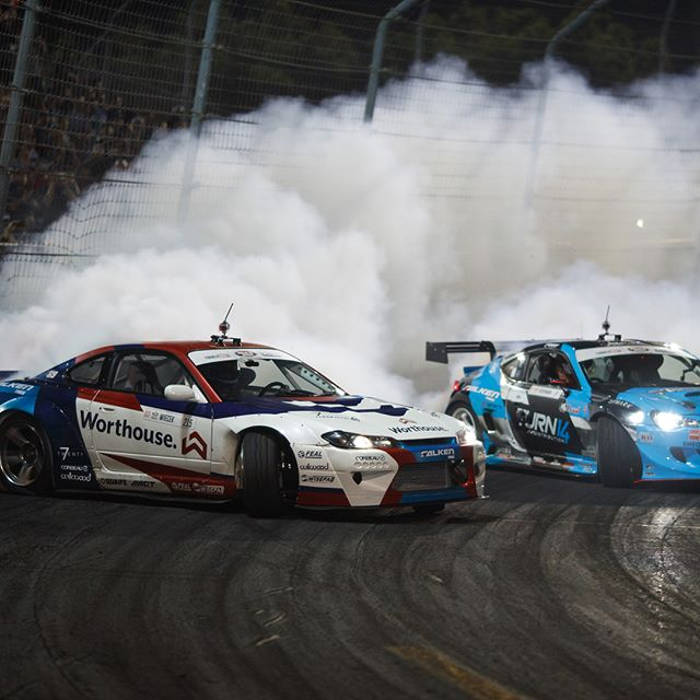 Congratulations to Formula DRIFT PRO event winner @piotrwiecek 2nd place @daiyoshihara and 3rd place @jamesdeane130 | And your 207 Formula DRIFT Champion @jamesdeane130  | Photo by @larry_chen_foto