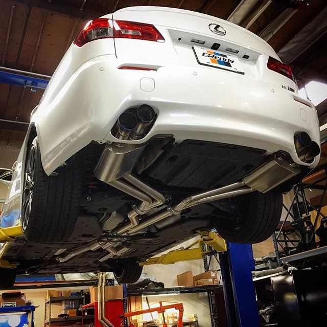 GReddy full Titanium dual-to-quad Exhaust, for the #LexusISF, now back in stock.  Contact your favorite Authorized GReddy Dealer for purchasing...