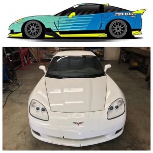 Here is a preview of @mattfield777 2018 #formuladrift Corvette @falkentire  #formulad