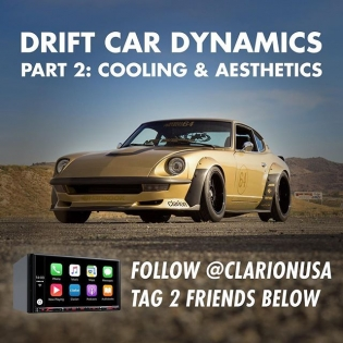 Hey #DriftCarDynamic fans! Follow @clarionusa and tag 2 friends to be entered to win a Clarion VX807 unit for your own audio upgrade. Winner will be announced next week! Hit the link in my profile to see all of the interior upgrades in #GoldLeaderZ