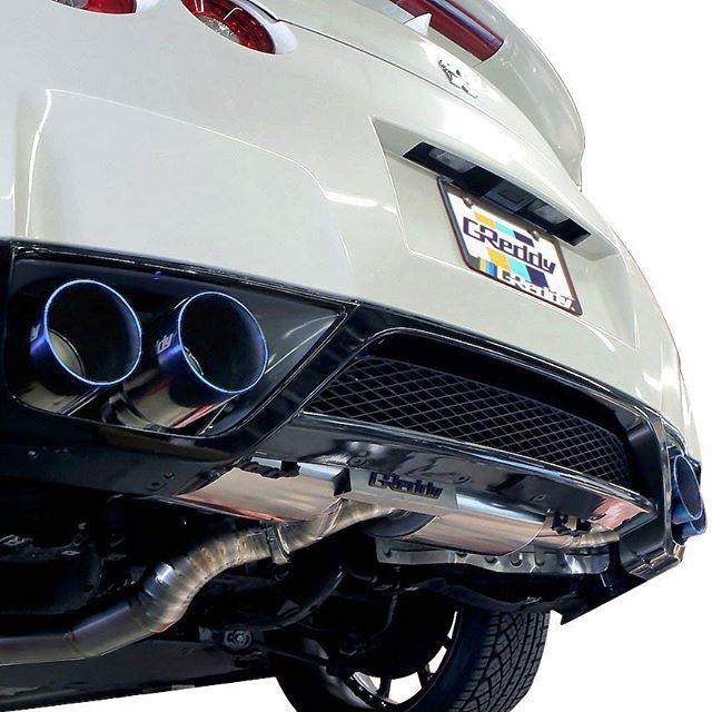 Lightweight GReddy full Titanium exhaust for the back in stock.  Streetable large diameter exhaust 2x80mm - 94mm.  Contact your favorite Authorized Dealer for more.
