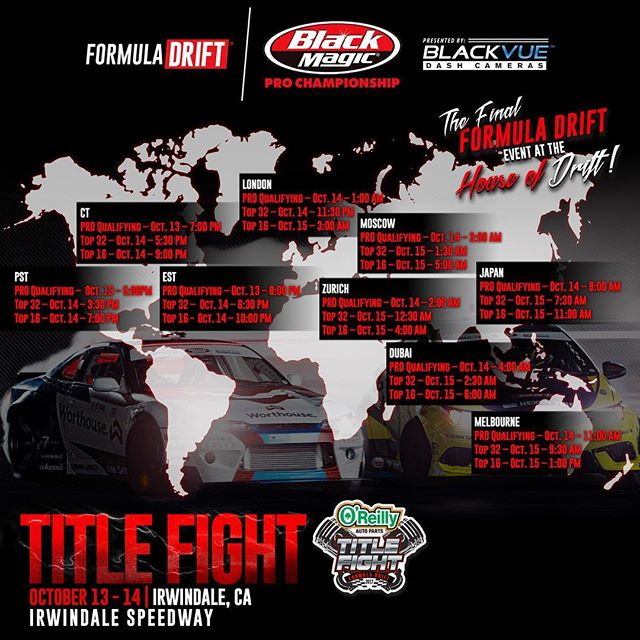Livestream times for the @formulad finals today!