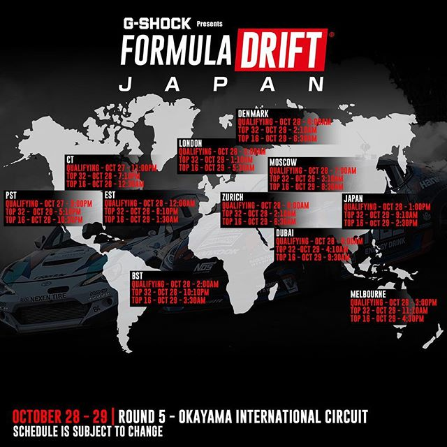 Livestream times for the @formuladjapan Finals at Okayama Circuit this weekend!