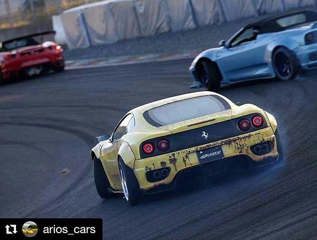 Repost @arios_cars ・・・ Ferrari Drift in Formula D in Okayama ! @photo_kaneko