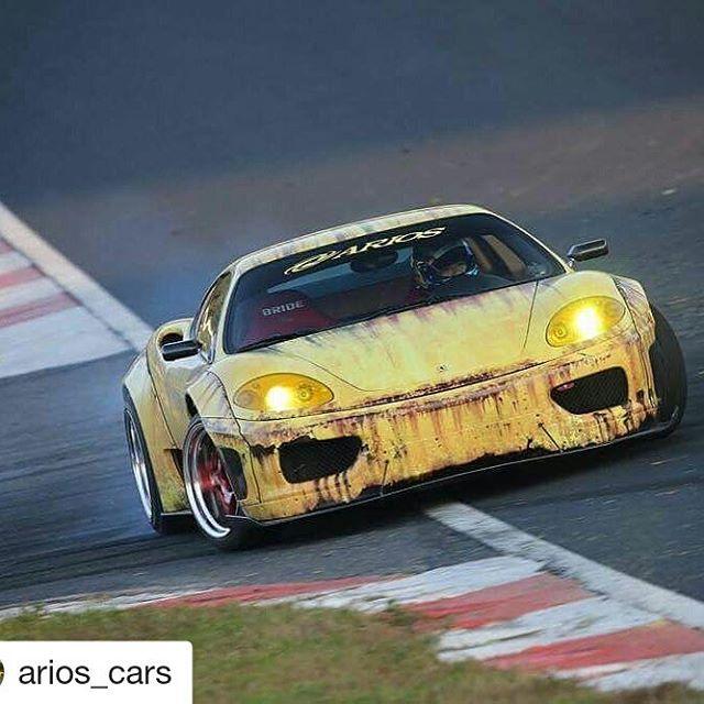 Repost @arios_cars ・・・ Ferrari drift in formula D Japan Okayama !!