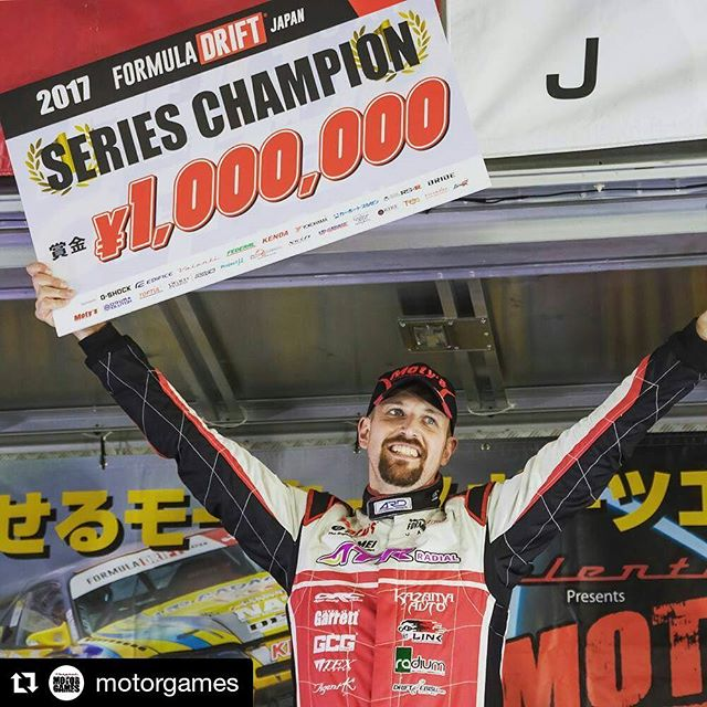 Repost @motorgames ・・・ FORMULA DRIFT JAPAN 2017 - THE YEAR'S CHAMPION IS ANDREW GRAY!