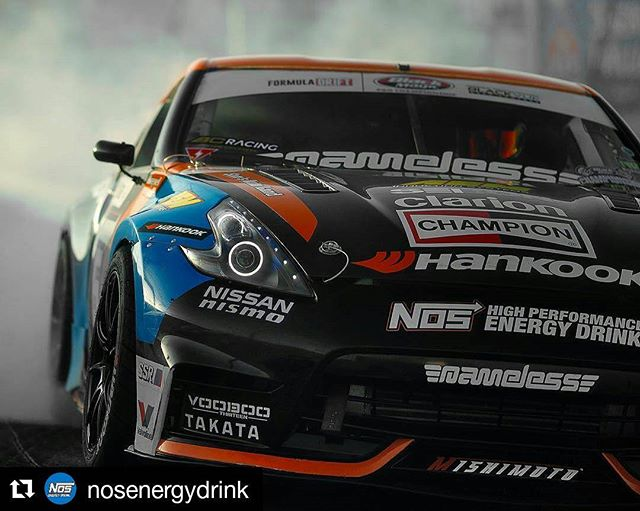Repost @nosenergydrink ・・・ The is fired up and ready to go! Tune in the action at #FormulaD.com/live 5PM PST