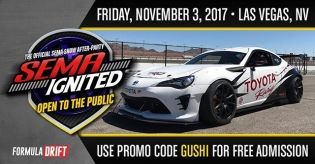 SEMA Ignited The Official Afterparty for Formula Drift November 3rd in Las Vegas. Gates open at 3pm. @semashow Use coupon code GUSHI at www.semaignited.com for a free ticket. #formulad #formuladrift
