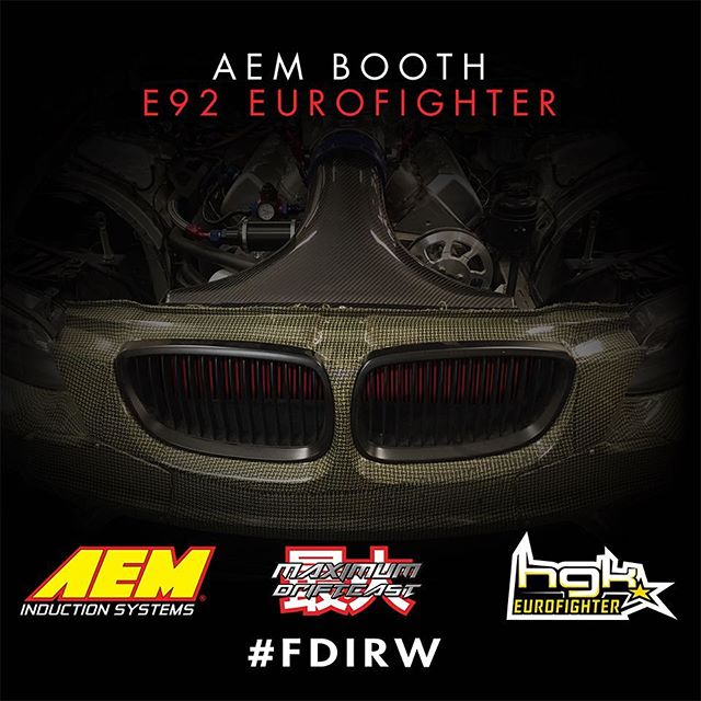 The US debut of @hgkracingteam E92 Euro fighter will be displayed at  the @aemintakes booth this weekend at