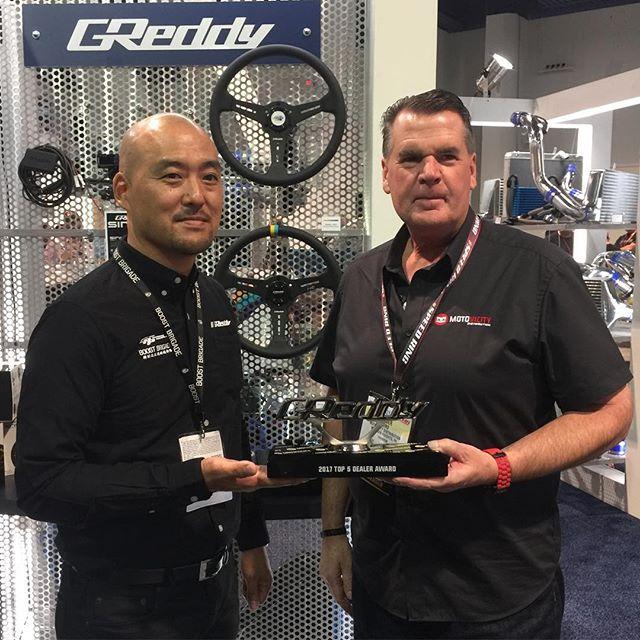 2017 Top 5 Authorized GReddy Dealer Award, @motovicitydistribution