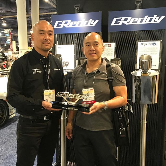 One of our Top 5 Authorized GReddy Dealers, @optionsautosalon awarded with our GReddy Award at this year's