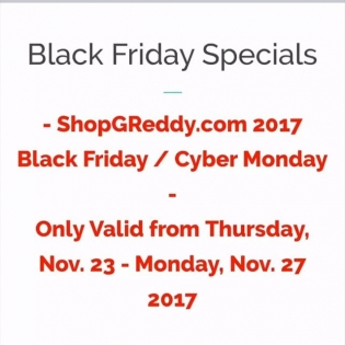 #ShopGReddy.com #BlackFriday Specials are going quick... get yours now!