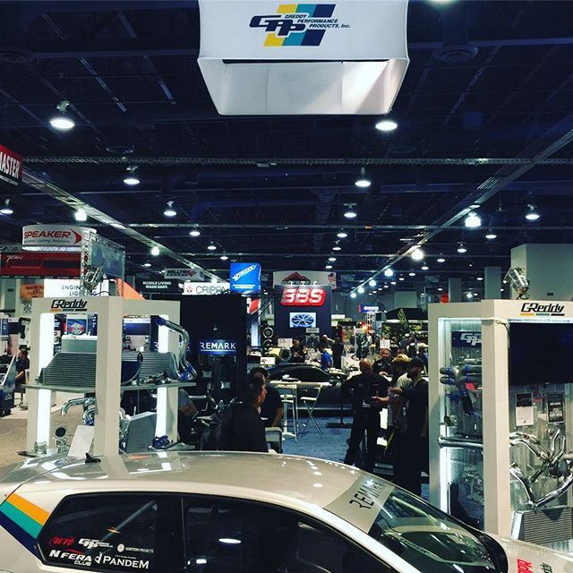 The 4th and final day of is here!  Stop by and see us in the booth #31255, in the upper south hall.  After the show we will be doing drift demos at @semaignited   In the Gold lot.