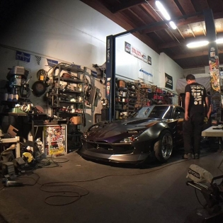 Work hard and chase your dreams. #kylemohanracing #built2apex This shot was taken only hours before we shipped the FD3S to #SEMA. Working days and nights with the team I think this was the first moment we saw it on the ground and it was really starting to take shape. #emotions #drifting #mazda #drivingcoach #kmrbuilt #builtnotbought #dreamcar #rotary #rx7fd3s