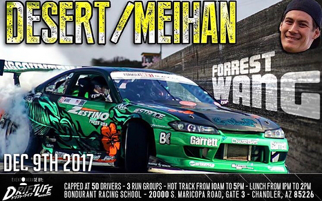 come see @forrestwang808 in person instead of as a floating head and watch him kill it at @thetracksociety's Desert Meihan in the s15 this weekend, and dont forget to donate to the Toys for Tots section of the event. All going down tomorrow at the Boundrant/Wildhorse Pass Motorsports Park in Chandler,AZ from 10-5pm!