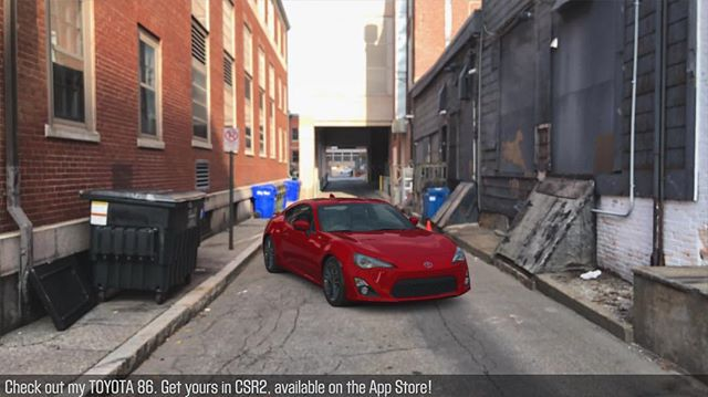 I present to you my new Toyota 86 daily street car 🏎. Love this color and more of a mild build than my Tuerckstreetcar haha. I created this using @csrracing real world simulation. Build your own using the new AR mode! Download the game from the App store today. Available only on iOS devices.