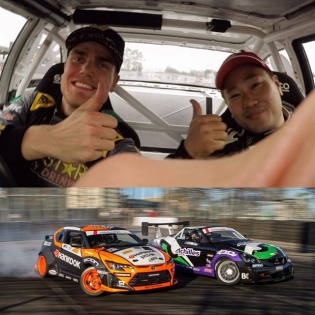 Missing this guy in @formulad! We had some fun battles, and we've hung out here and there in Japan and in China over the last couple of seasons. Fun fact: Daigo used to fish in the ponds outside the tracks and play badminton in the pits. #TBT #FatFive