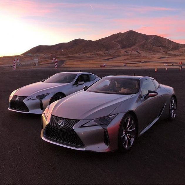 Tomorrow I'm going head to head with @scottpruett01 in these @lexususa #LC500's. Catch it live on the Lexususa Facebook page and YouTube at 12:30 PST. #Lexus @race.service #RT411