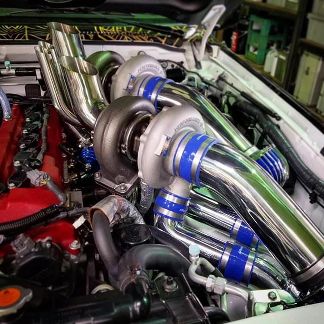 A little 2,000hp, twin T88-38GK sneak-peek of what you will see in the @TRUST.GReddy booth this year...
