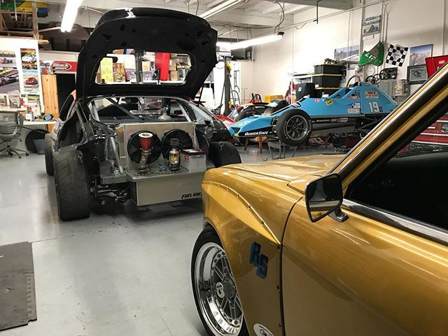 A little bit of everything going on at the shop. Rear mount radiator and shroud is done on the race car and we are almost done with chassis fab!