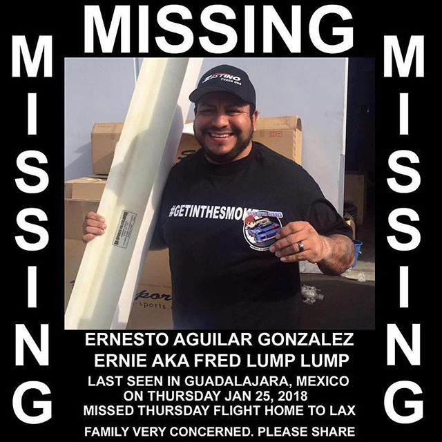 A member of our drift community has been missing for 3 days. If you have any info, please share!