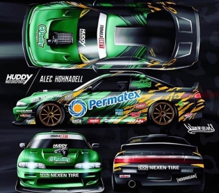 A peak at @alechohnadell 2018 #formuladrift livery #formulad