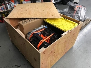 Crated up and shipping out! If you didn't pick it up from my latest #GOODENOUGH! episode or my stories... my engines are going to @amsperformance for tear down, full inspection, upgrades, and reassembly. AMS builds the most insane 2,500hp @nissan GTR engines and we are going to apply some of that technology to our little 1,000hp Z engine, hahaha. Can't wait!