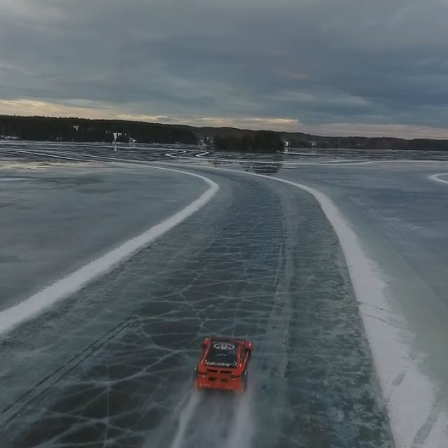 Melting ice? No problem. Fun times with @ctekchargers last winter! Who'd like to see a new ice drift winter video edit, and what would you like to see in it?