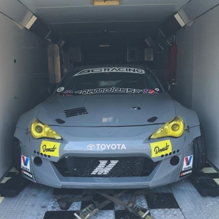 #Tuerckdstreetcar is loaded up 🤔 and ready to head west.... After this snow storm passes through NH ️☃️️ #RT411 @toyotausa #86 @mishimoto #cooledbymishimoto