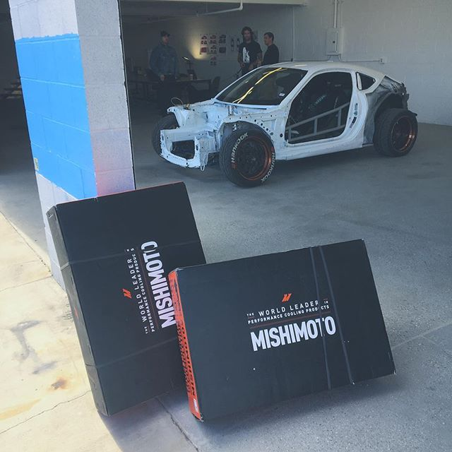 @mishimoto coming through with the new rad cooling setup for the year 🤘🏼😎🏎 📸 @gay_andy
